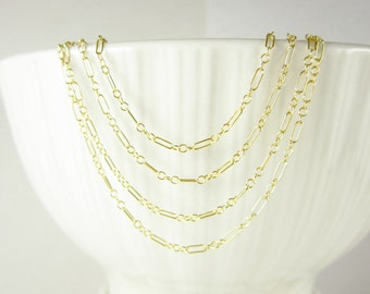 LONG & SHORT - 5, 6 or 7 Inch Chain Bracelet - 14k Gold Bracelet Chain - Simple Everyday Bracelet - Everyday Jewelry - Delicate Chain