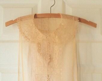 Antique Edwardian Lace Collar, Ecru