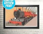 LIMITED EDITION Hogwarts Express Poster - Harry Potter Art Print