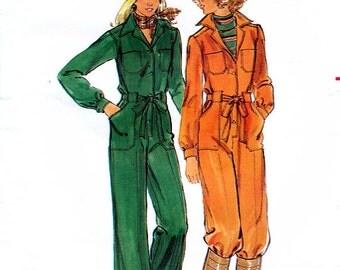 Butterick 5075 Vintage 70s Misses' Jumpsuit Sewing Pattern - Uncut - Size 12 - Bust 34