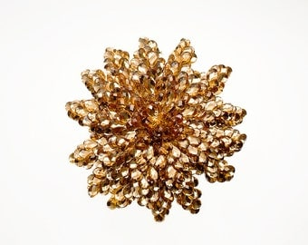 Bridal Bouquet - Gold Bridal Bouquet - Golden Wedding Bouquet - Fabulous Brooch Bouquet Alternative with Grooms Boutonniere