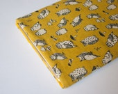 Owls Yellow iPad Case Sleeve Pouch iPad Mini, iPad Air - also for Nexus, Kindle, Acer, Dell, LG