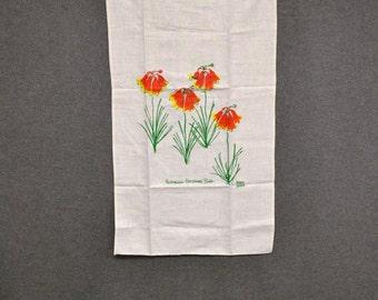 1980s Inkee Prints Linen Dish Towel
