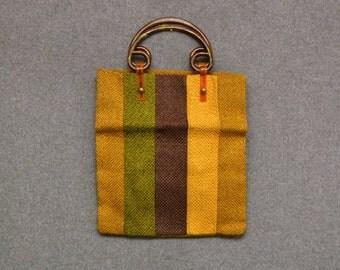 1970s Jute Handbag