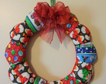 Mini Fabric Christmas Wreath