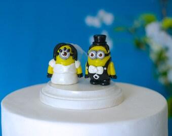 Minions Wedding Cake Toppers - Custom Wedding Cake Topper - Wedding - Party - Cake - Keepsake