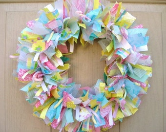 New Baby Wreath, Hospital Door Wreath, Baby Shower Decor, Nursery Wreath, Newborn Baby Room Decor, New Mom Baby Gift, Pink Blue Green Yellow