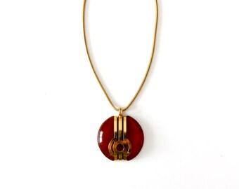 vintage 60s mod pendant necklace, big statement necklace