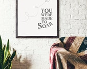 You were made to soar, Paper Airplane Art, Nursery Decor, Art Print, Gift, Baby Shower Gift, Motivational