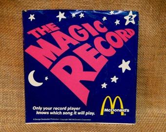 McDonalds...The Magic Record - 1982 Vintage Vinyl 45 rpm Record Album