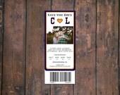 Sports Ticket Invite