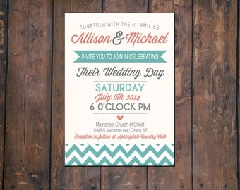 Wedding Chevron Announcement