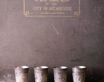 Vintage Metal Souvenir Cups from Niagara Falls