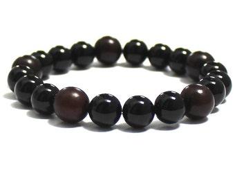 Men's Mala Beads Beaded Bracelet Birthday Anniversary Boyfriend Gifts for Husband Chakra Mala Bracelet Buri Wood Beads Bracelet, Worry Beads