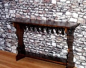 Medieval Sideboard, Dollhouse Miniatures, 1/12 Scale, Hand Made