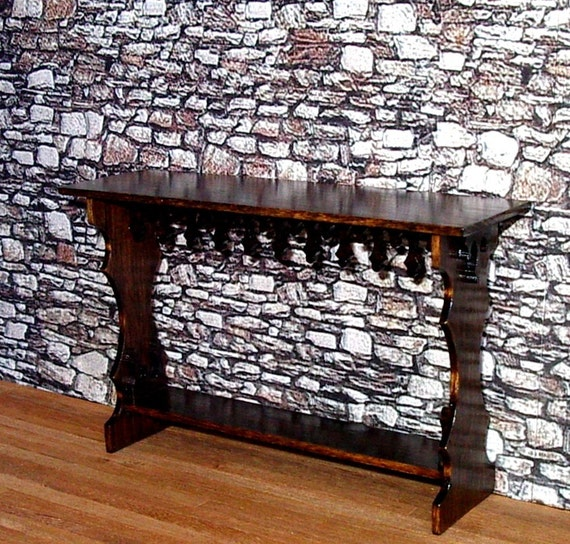 Medieval Sideboard Dollhouse Miniatures 1 12 Scale Hand