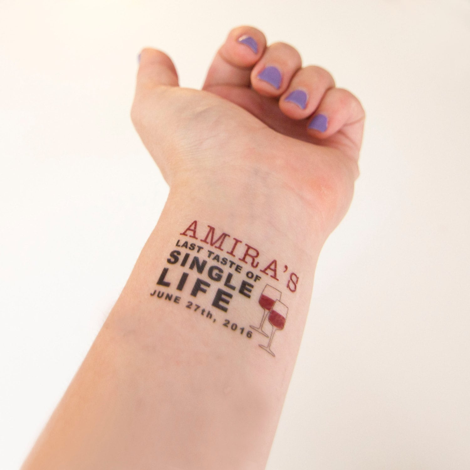 Bachelorette party temporary tattoos last taste of single for Bachelorette party tattoos