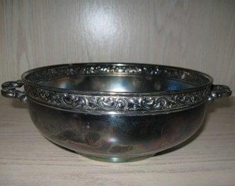 Silver Plate Pilgrim Bowl Trade Mark Of Friedman Silver Co Inc 1908-1960