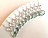 Prasiolite Crystal Silver Earrings. Clear Earrings. Silver Drop Earrings. Bridesmaid Jewelry Set. Bridal Jewelry. Wedding. Bridesmaid Gift.