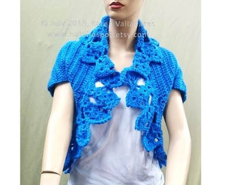 INSTANT DOWNLOAD Edge Bolero, Shrug, top, blouse or Sweater - Crochet Pattern