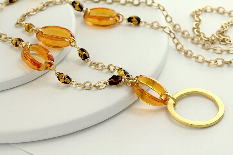 tortoise eyeglass chain lanyard gold lanyard gold by maetri