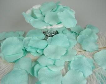 Aqua Mint 200 BULK Rose Petals, Artifical Petals, Wedding Decoration, Flower Girl Petals, Shower, Table Scatter - NEW COLOR