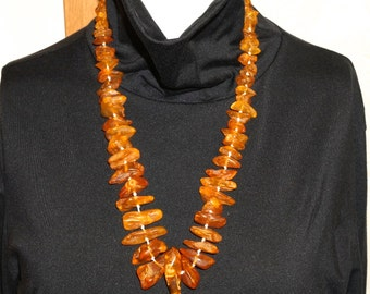 Large Amber Necklace.  Graduated Antique Amber Beads NO.00385 cs