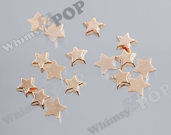 Gold Tone Star Stars Floating Memory Charms, Star Floating Charm, Memory Charm, 7mm (4-6F)