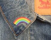 Rainbow Pin, Soft Enamel Pin, Gift, Jewelry, Art (PIN6)