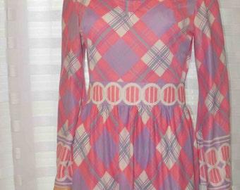 Vintage 1970s Miriam Susskin for Mel Naftal AMAZING Midi Dress