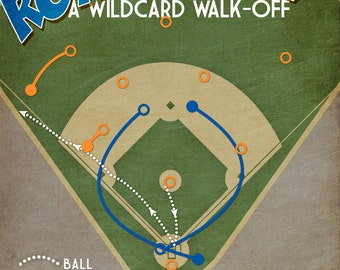 Kansas City Royals baseball print 'Royal Rally' wildcard win poster