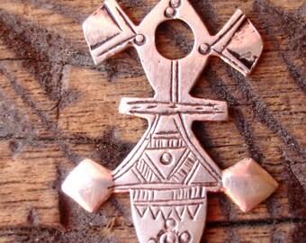 Moroccan Tuareg silver hand engraved pendant (Y)