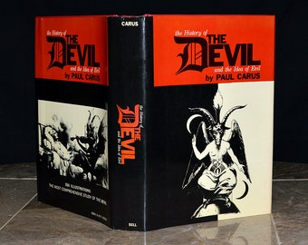 The Devil & the Idea of Evil -  Vinatge Occult Book - Hardcover w/ DJ - Satanic / Demonic / Demonology / Witchcraft / Wicca / Esoteric