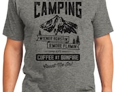 If It Involves Camping Wiener S'More Coffee Count Me In Camping Outdoors Men's & Women's T-shirt Short Sleeve 100% Cotton S-2XL (T-CA-04)