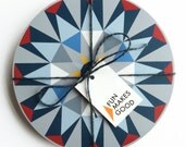 SALE Matching set of 4 Kaleido Tablemats - Light Blue Triangles *Online Exclusive!*