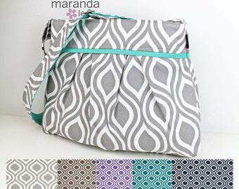 Diaper Bag - Stella Large - CUSTOM U Choose Pod with Custom Accent -Nappy Bag Stroller Attachment
