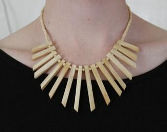 bone bib necklace