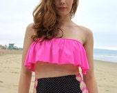 HANA: REVERSIBLE Tie Up High Waisted Bikini Bottoms - Create your Own