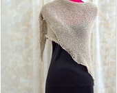 Hand Knit Shawl - Warm Knitted Shoulder Wrap - Handmade Shoulder Cover - Ladies Accessory