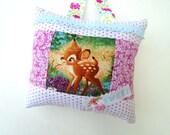 Sweet Baby Bambi Pillow / Bambi Decor / Hanging Pillow / Nursery Decor / Bambi Wall Hanging / Doorknob Hanger / Bambi Accent Pillow