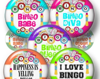 2 Bingo, Bottle Cap Images, Digital Collage Sheets, Printable 1 Inch Circles, Instant Download, 1 Inch Round Images, Bottle Caps, (No.1-2)