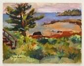 Original oil painting, Seascape, Maine, Oil on canvas, Maine coast,