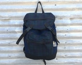 Vintage Uphill Down Backpack with Cinch Top, Made in USA