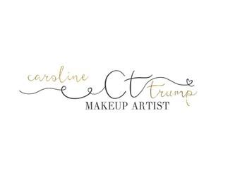 Premade logo design-Photography logo-Small business logo design-Brand identity -Gold logo-Makeup artist logo-Fashion logo