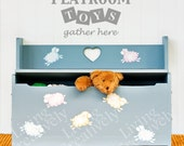 Playroom Toys Gather Here Vinyl Decal - Kids Room Wall Decal - Many Color Choices
