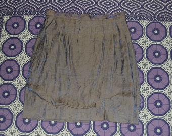 Purple Iridescent Holographic Skirt Highwaisted Short Miniskirt 90s
