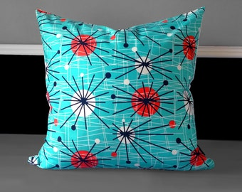 "Pillow Cover - Atomic Turquoise 20"" x 20"""