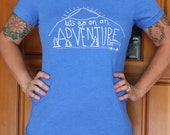 Womens Fitted T Shirt - Adventure - S M L XL - Hand Screen Printed On American Apparel