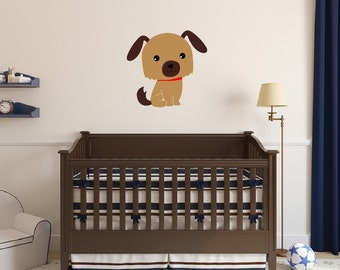 Puppy Decal | Vinyl Wall Decal | Dog Wall Decal | Nursery Decal | Kids Room Decor | Girls Room Decor | Boys Room Decor 22541