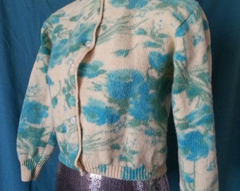 Sidney Gould Sweater Blue Flower